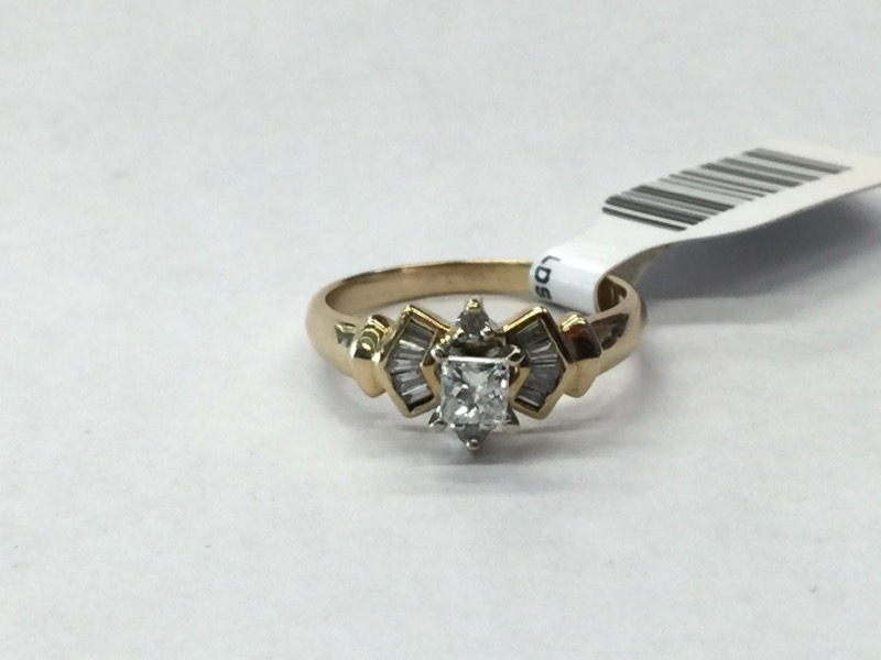 Lady's Diamond Engagement Ring 13 Diamonds .42 Carat T.W. 14K Yellow Gold
