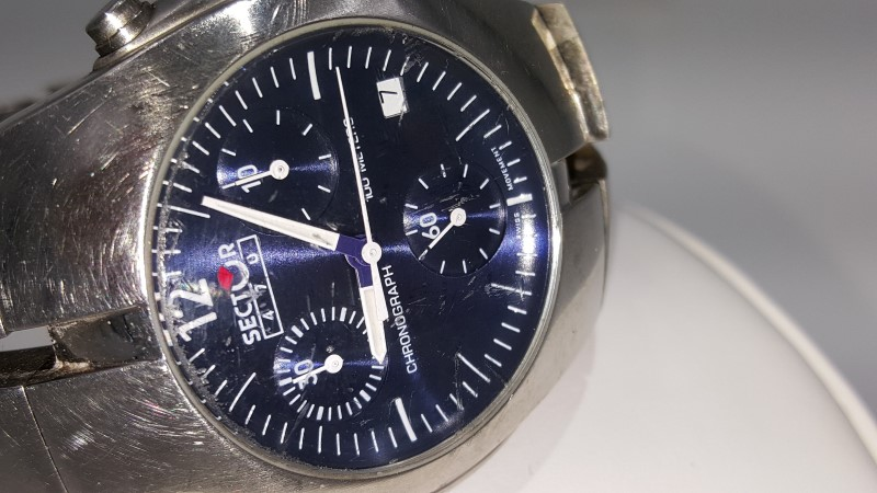 Sector 470 Blue Dial Stainless Steel Chronograph Quartz