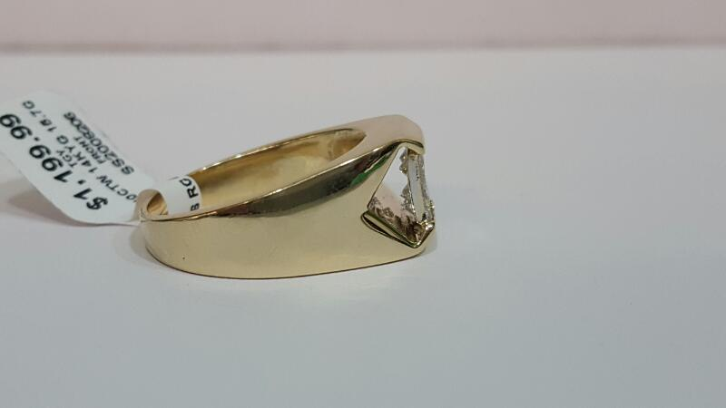 Gent's Diamond Fashion Ring 4 Diamonds 1.40 Carat T.W. 14K Yellow Gold 15.7g