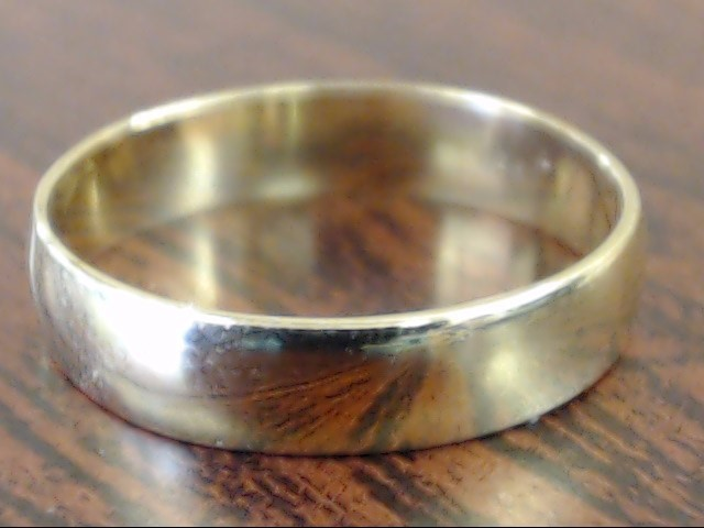 VINTAGE CLASSIC PLAIN WEDDING RING BAND SOLID 10K YELLOW GOLD SIZE 6