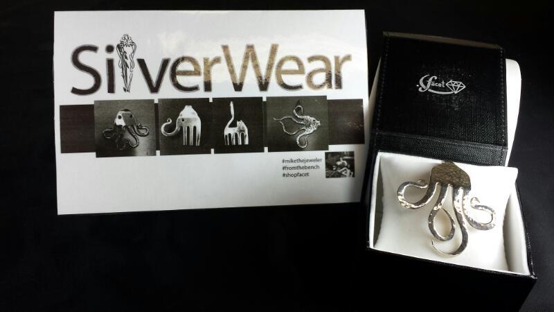 Designer Michael Kelch Octopus Fork Bracelet 925 Silver