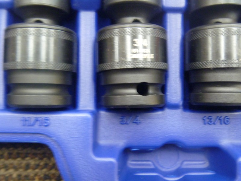 "NAPA CARLYLE 61-0313 9PC 1/2"" DRIVE SAE WOBBLE SOCKET SET (7/16 - 15/16)"