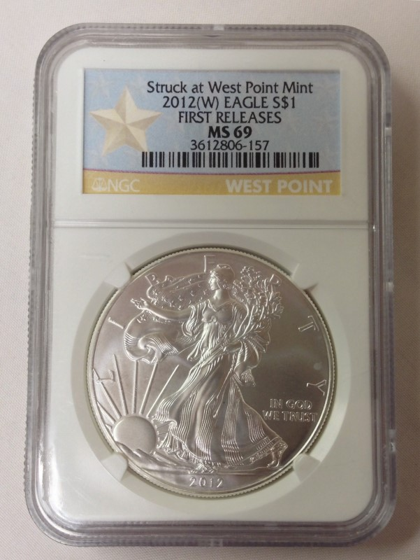 UNITED STATES SILVER COIN 2012 W SILVER EAGLE FIRST RELEASES