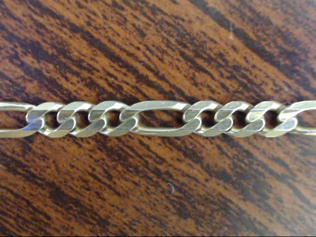 """VINTAGE FIGARO LINK NECKLACE CHAIN SOLID REAL 14K YELLOW GOLD 24"""""""