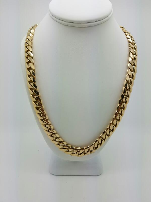 "24"" C LINK Gold Curb Chain 14K Yellow Gold 177.7dwt"