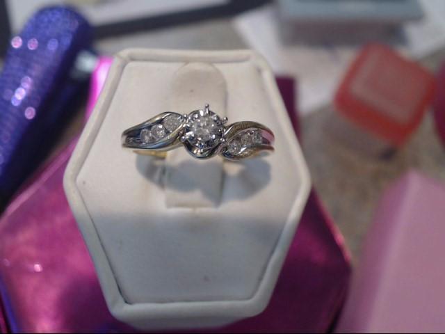 Lady's Diamond Engagement Ring 7 Diamonds .21 Carat T.W. 10K Yellow Gold 1.9dwt