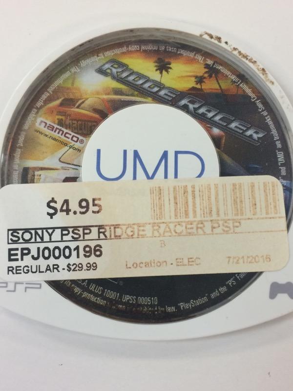 SONY Sony PSP Game RIDGE RACER PSP