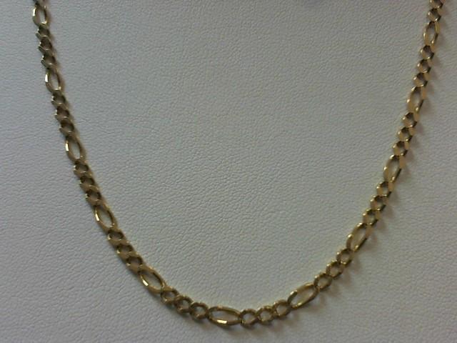"""24"""" Gold Figaro Chain 14K Yellow Gold 14g"""