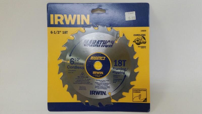 """IRWIN TOOLS Drill Bits/Blades 14020 MARATHON 6-1/2"""" 18T"""