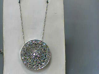 Diamond Necklace 50 Diamonds .50 Carat T.W. 14K White Gold 2.2dwt