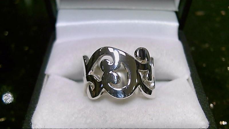 Silpada Swirl Wave Sterling Silver Ring 925 Sz 7.75