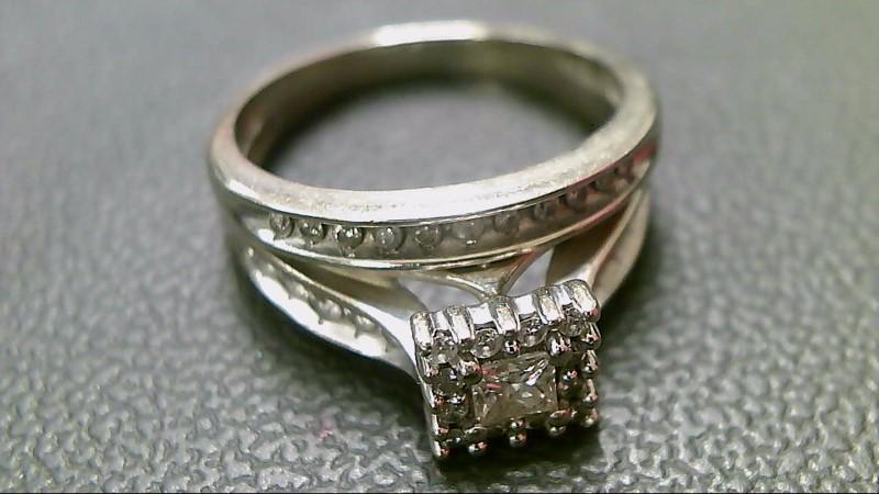 Lady's Diamond Wedding Set 33 Diamonds 1.26 Carat T.W. 14K White Gold 6.7g