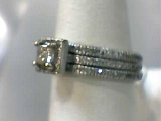 Lady's Diamond Wedding Set 141 Diamonds 1.300 Carat T.W. 14K White Gold 4.3dwt