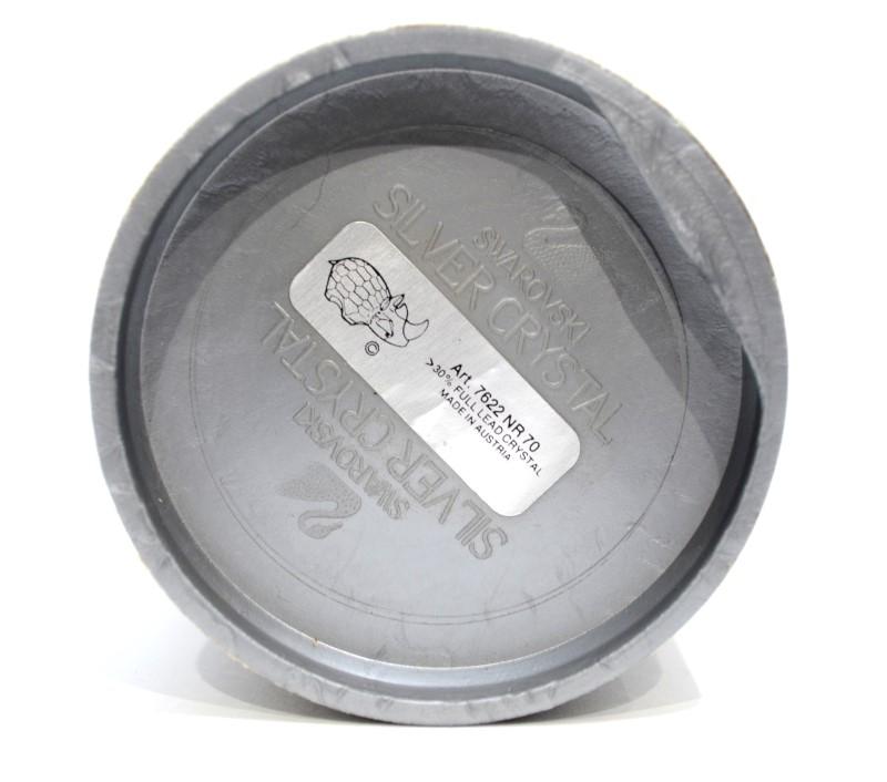 Swarovski Silver Crystal Rhinoceros Figurine 7622 NR 70 *READ*