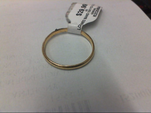 Lady's Gold Wedding Band 10K Yellow Gold 0.9g