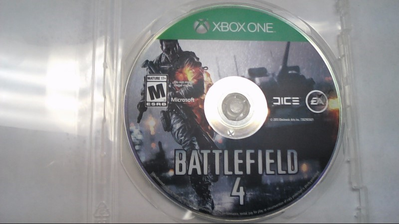 MICROSOFT BATTLEFIELD 4 - XBOX ONE Disc Only-Free Shipping