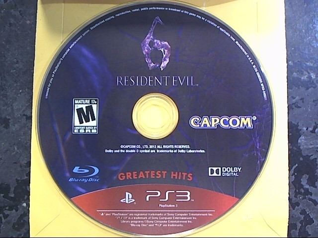 SONY Sony PlayStation 3 Game PS3 RESIDENT EVIL