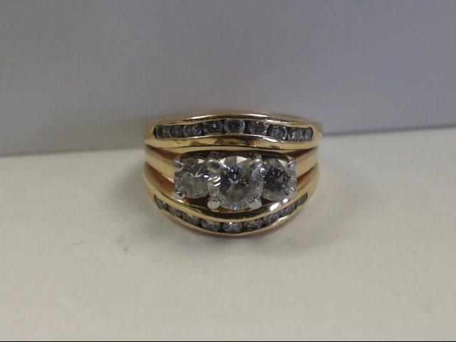 Lady's Diamond Fashion Ring 21 Diamonds 1.26 Carat T.W. 14K Yellow Gold 9g