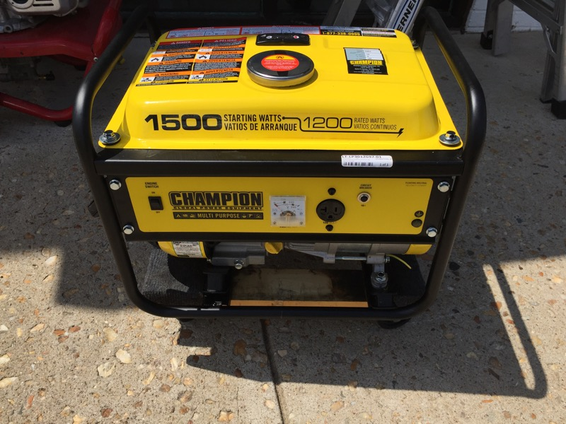 Champion Power Model 42436, 1200/1500 Watt  *IN STORE PICK UP ONLY*