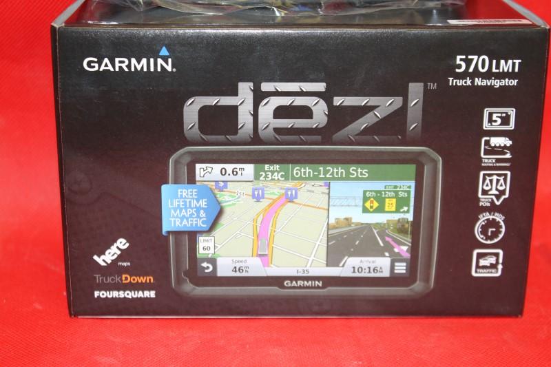 "New Garmin Dezl 570LMT 5"" Trucking GPS w/ Lifetime Maps & Traffic"