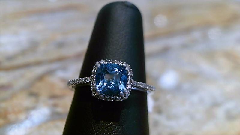 Aquamarine Lady's Stone & Diamond Ring 44 Diamonds .44 Carat T.W.
