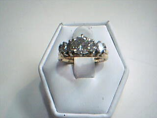 Lady's Diamond Wedding Set 7 Diamonds 1.47 Carat T.W. 14K Yellow Gold 5g