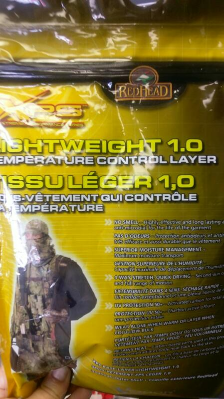 REDHEAD XPS LIGHTWEIGHT 1.0 TEMPERATURE CONTROL LAYER SIZE MEDIUM NIP