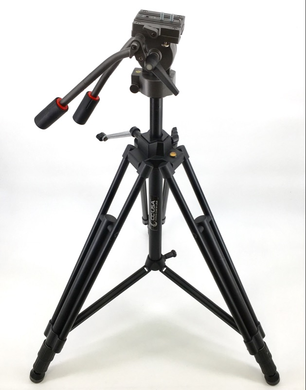 "Smith-Victor Pro-5 2-Way Heavy Duty Fluid Tripod Panhead 63"" MAX"