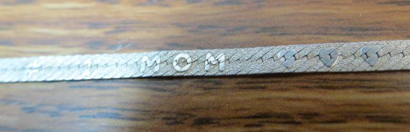Silver MOM Bracelet Chain 925 Silver 1.92dwt