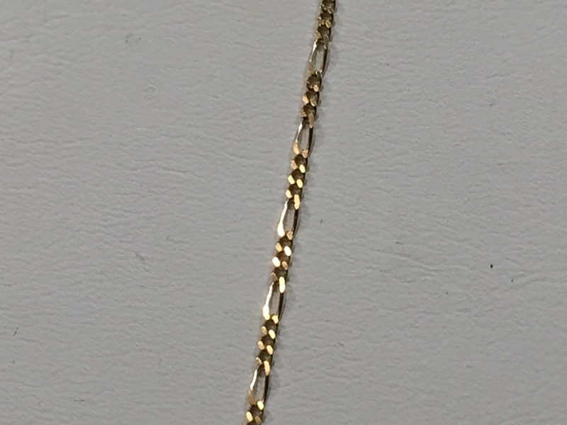 "20"" Gold Figaro Chain 14K Yellow Gold 1.9g"