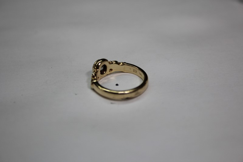 Lady's Diamond Solitaire Ring .38 CT. 14K Yellow Gold 3.2g Size:3.5