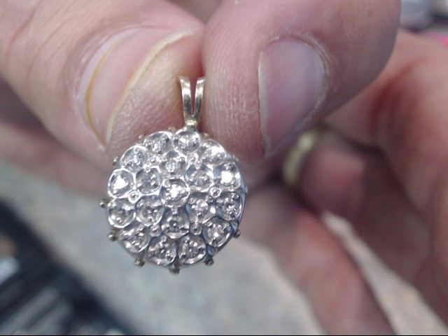 Gold-Multi-Diamond Pendant 19 Diamonds .57 Carat T.W. 14K Yellow Gold 1.35dwt