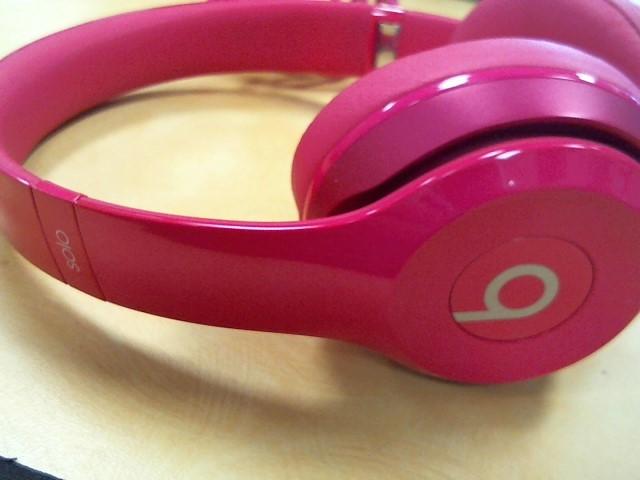 BEATS AUDIO Headphones SOLO PINK