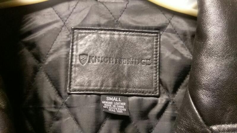 KNIGHTSBRIDGE BLACK LEATHER MEN'S JACKET SIZE SMALL