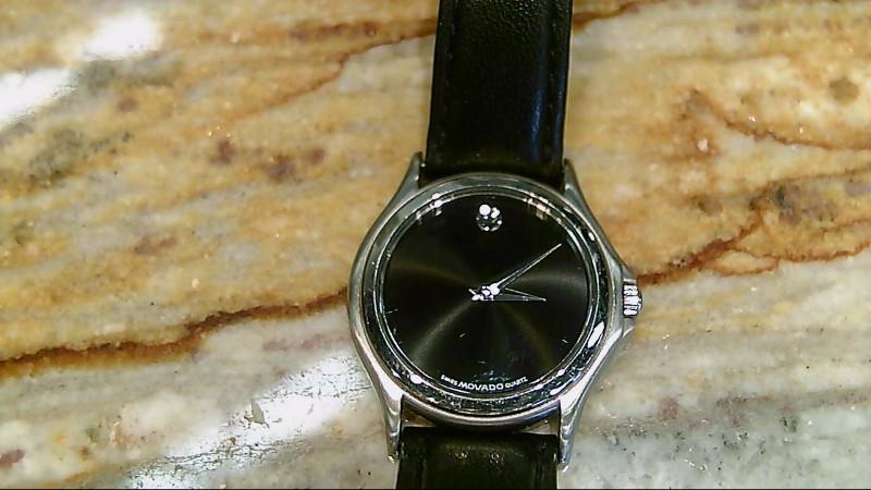 Lady's Movado Amorosa Wrist Watch 84-E4-0823 Black