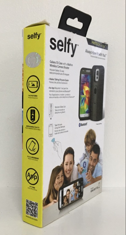 ILUV SELFY CASE WITH WIRELESS CAMERA SHUTTER - GALAXY S5 - BLACK