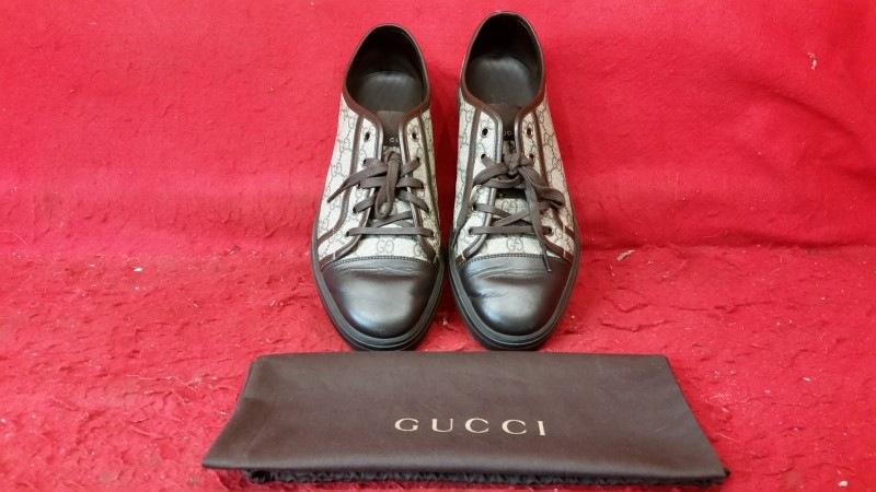 Gucci Men's 309462 GG Supreme Low Top Sneaker Trainers Shoes 10 G