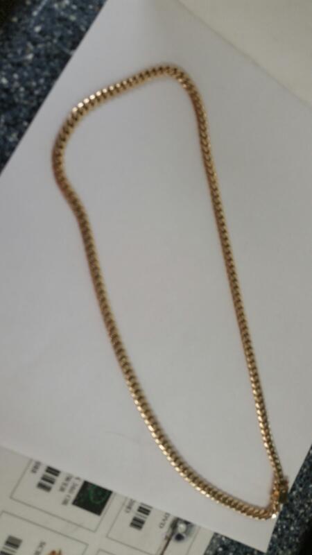 "10K-YG 22"" Snake Link Chain"