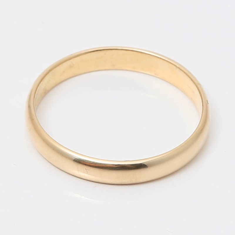 14K Yellow Gold Matte Comfort Fit Wedding Band Size 7