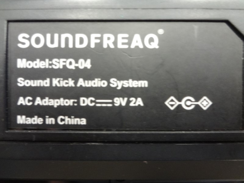SOUNDFREAQ SFQ-04 SOUND KICK WIRELESS BLUETOOTH SPEAKER - BLACK WITH CHARGER