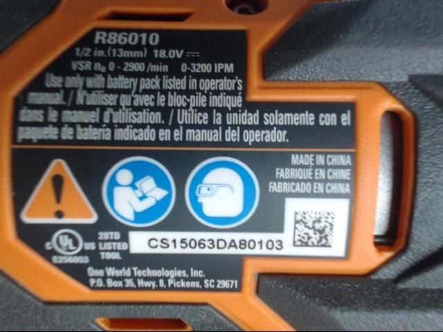RIDGID TOOLS Cordless Drill R86010