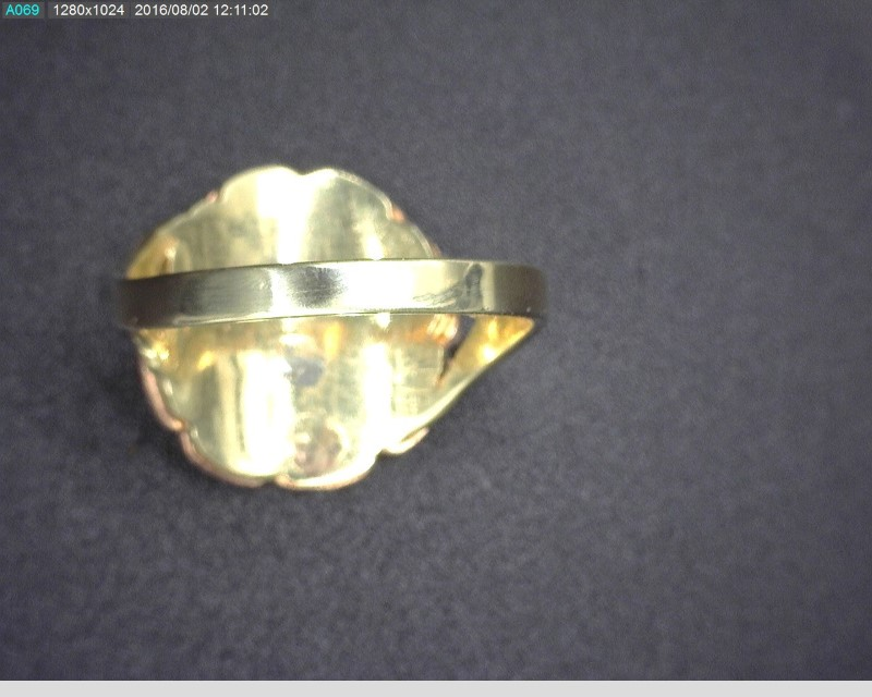 "14K TRI-COLOR ""15"" RING SZ7.5 3.8G"