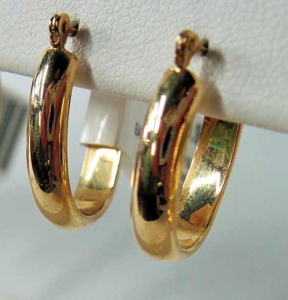 Gold Earrings 14K Yellow Gold 1.25g