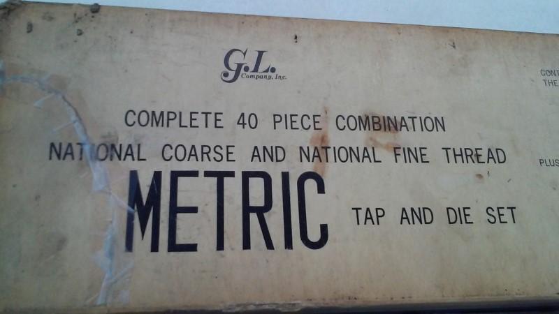 G.L. COMPANY Tap & Die 40 PC TAP AND DIE SET
