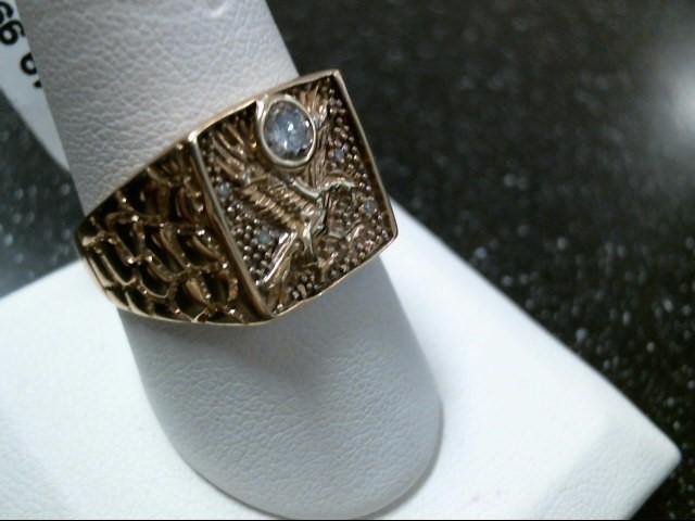 Gent's Diamond Fashion Ring 5 Diamonds .29 Carat T.W. 10K Yellow Gold 5.8g