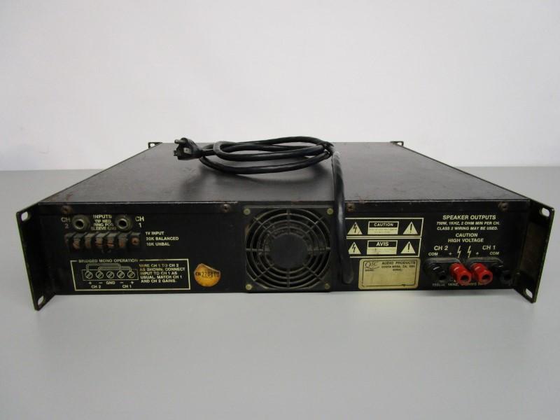QSC MX 1500 DUAL MONAURAL AMPLIFIER, FOR PARTS OR REPAIR