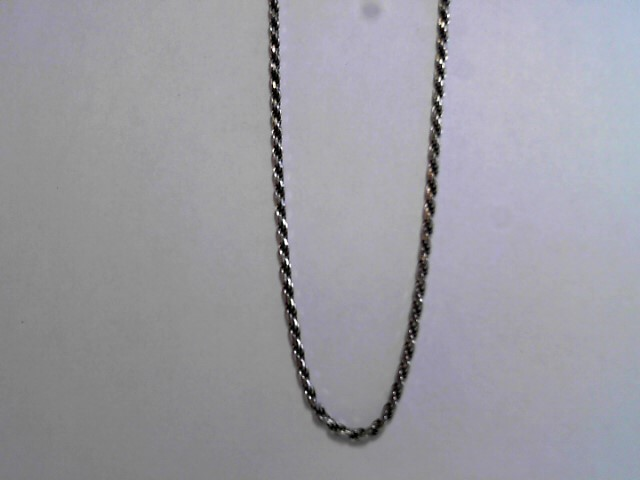 "20"" Silver Rope Chain 925 Silver 7.68dwt"