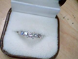 Lady's Gold-Diamond Anniversary Ring 7 Diamonds .99 Carat T.W. 14K White Gold