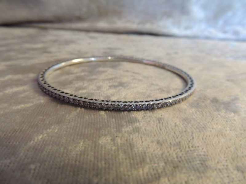 """Pandora Twinkling Forever Sterling Silver Bangle 590511CZ-21 8.3"""" AUTHENTIC"""