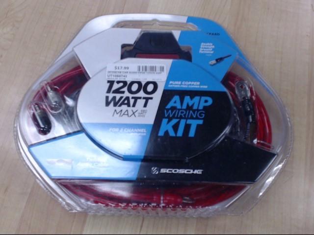SCOSCHE Car Audio KPA6 1200W AMP WIRING KIT